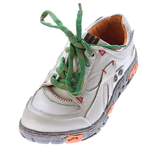 Comfort Damen Sneakers Leder Schuhe Weiß Turnschuhe Schnürer Halbschuhe Gr. 40