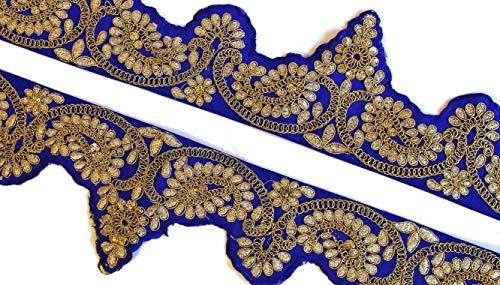 iDukaancrafts Bluse aus Spitze mit indischem Zari-Stickerei, 0,9 m