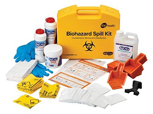 GV Health Biohazard und körperlichen Fluid Multi Spill-Kit–25Stück
