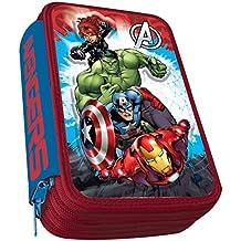 Astro Avengers AST0162 - Plumier con 3 cremalleras, 3D