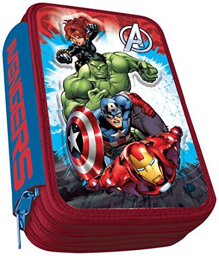 Astro Avengers AST0162 – Plumier con 3 cremalleras, 3D