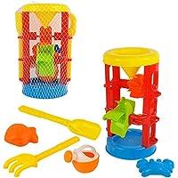 Preisvergleich für Babyspielzeuge, pädagogische Spielwaren der Kinder Großer Satz Sanduhr-Strand-Spielwaren, 6 Sätze, Gießkannen, Sand-Ausbaggern, Spiel-Haus-Spielwaren für Kleinkind-Jungen-Mädchen-Alter 3+