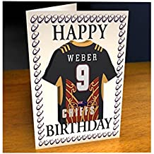 SUPER XV RUGBY UNION CAMPEONATO JERSEY DEL IMÁN DEL REFRIGERADOR DE TARJETAS DE CUMPLEAÑOS - CUALQUIER NOMBRE, CUALQUIER NÚMERO, CUALQUIER EQUIPO - DE FORMA GRATUITA! Por MyShirt123, color  - Waikato Chiefs Super XV Rugby Fridge Magnet Card, tamaño A5 Fridge Magnet Greeting Card