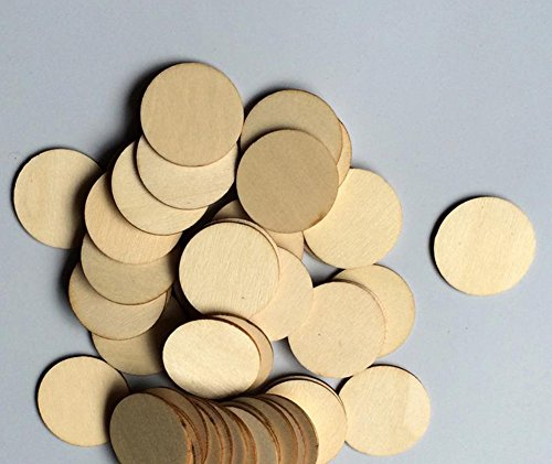 100x Milopon Wooden Embellishments Wood Slices Wooden Log Slices Discs for DIY Crafts