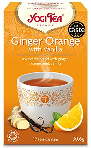 This lively ginger tea is refined with the subtle addition of vanilla, the Queen of Spices. A zest splash of orange gives this blend a fresh finish