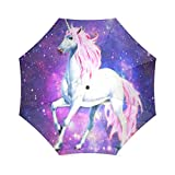 foldable Umbrella Custom fantash Einhorn Pferd Compact Travel Winddicht Regendicht Faltbare Regenschirm