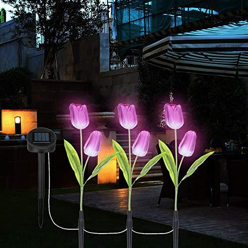 TAOtTAO 1 Juego Tulipanes Flores energía Solar jardín