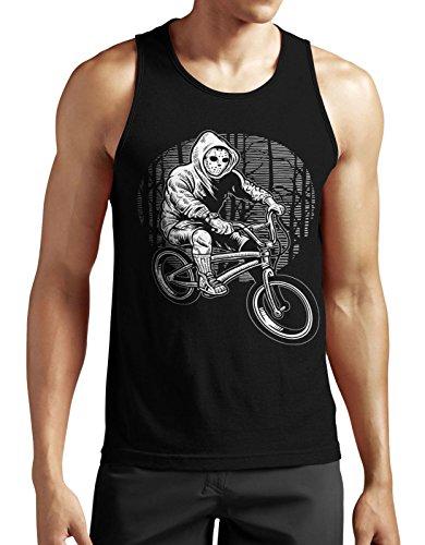 Ride to Kill Tank Top neu Fun Jason Horror Biker Sport Movie Satire Lustig Funny Schwarz