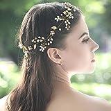 Jovono Hochzeit Stirnbänder Haarschmuck Braut Haarschmuck Kopfschmuck für Frauen und Mädchen