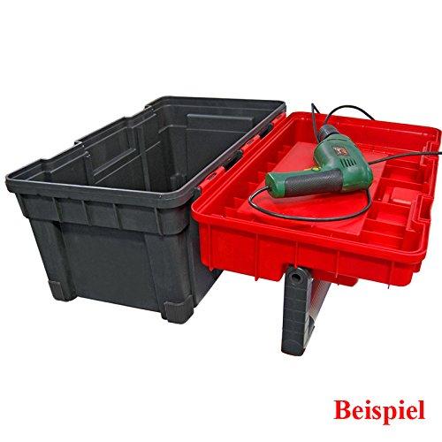 Kunststoff Werkzeugkoffer Formula HD BOX Trophy 1 Plus, 80x35cm Kasten Werzeugkiste Sortimentskasten Werkzeugkasten Anglerkoffer - 7