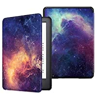 Fintie Slimshell Case for All-New Kindle (10th Generation, 2019 Release) - Lightweight Premium PU Leather Protective Cover with Auto Sleep/Wake (NOT Fit Kindle Paperwhite or Kindle 8th Gen), Galaxy