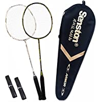 Senston Badminton Racket Set S-300 Graphite Full Carbon Badminton Racquet Premium Quality Protective Carry Case
