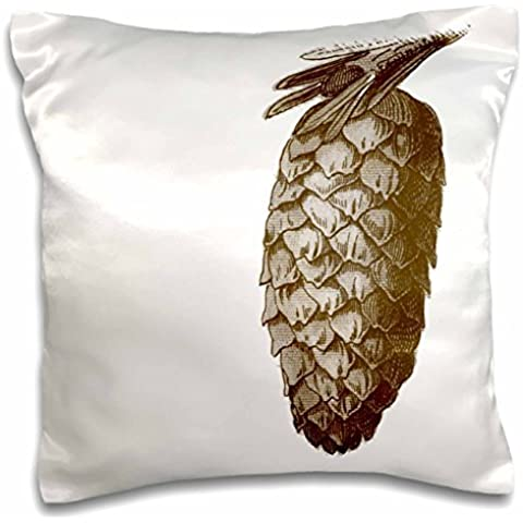 PS Creations - Brown Pinecone - Nature Art - 16x16 inch Pillow Case