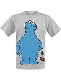 Barrio Sesamo Monstruo de las galletas Camiseta Gris