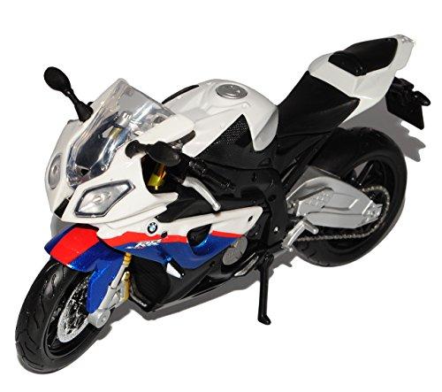 BMW S1000rr S1000 S 1000 Rr Weiss Blau 1/12 Maisto Motorradmodell Motorrad Modell