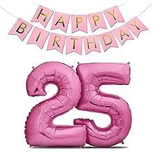 Suchergebnis Auf Amazon De Fur 25 Geburtstag Deko