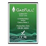 GadFull® Akku für Samsung Galaxy Note 2 | 2018 Baujahr | Entspricht Dem Original EB595675LU | Lithium-Ionen-Akku der Modelle GT-N7100 | GT-N7105| Ersatz Handy-Akku für Ihr Smartphone