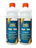 INOX Wege Clean - SteinreinigerKonzentrat, 2 x 1L - Gründbelagentferner, Algenentferner für Außen