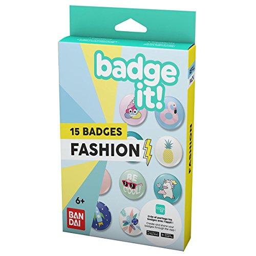 Bandai – Badge It ! – Recharge thème Fashion – matériel pour machine à créer des badges – 35411 – Loisirs créatifs