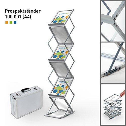 Faltbarer Prospektständer DIN A4 Hochformat |  Flyerhalter |  Katalogständer |  Prospekthalter...