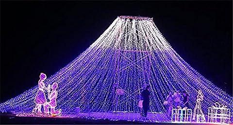 LUCKY CLOVER-A Extrem lange Arbeitszeit 60, 000hrs, 6m*3m 600 LED leuchtet Lampe Fairy String Lampe Eiszapfen Licht Vorhang Lampe Weihnachten Halloween Urlaub Hochzeit Party Kunst Dekorative Lampe Funkeln Licht , Blue