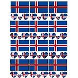 SpringPear 12x Temporär Tattoo von Flagge Island für Internationale Wettbewerbe Olympischen Spiele Weltmeisterschaft Wasserfeste Fahnen Tätowierung Flaggenaufkleber WM Fan Set (12 Pcs)