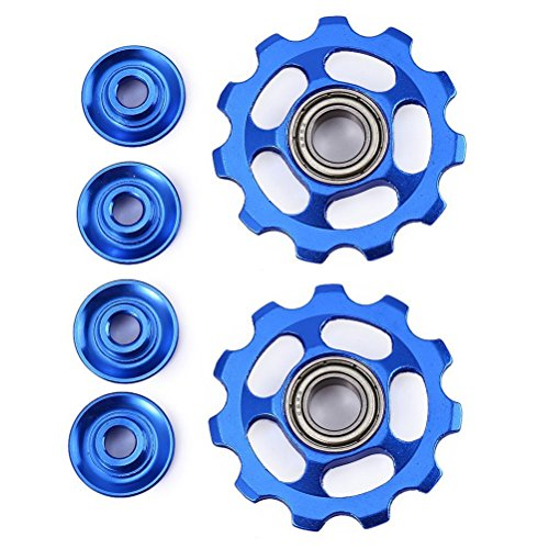VORCOOL-Rad Schaltwerk blau 2pcs 11T Rad Schaltwerk Jockey Rollen für Shimano