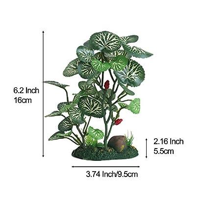 Vivifying Aquarium Artificial Plant, 6.2inch Tall Plastic Plants for Fish Tanks (Green) 3