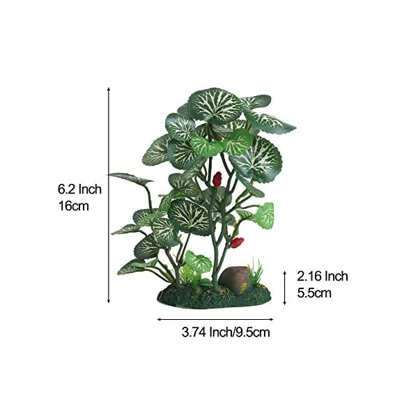 Vivifying Aquarium Artificial Plant, 6.2inch Tall Plastic Plants for Fish Tanks (Green)