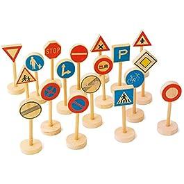 7064 Segnali stradali small foot, segnaletica stradale in legno, accessori per ferrovie in legno, im