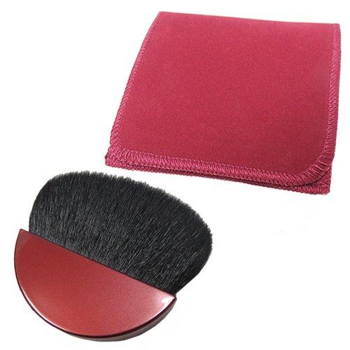 fabriqué au Japon professionnel Poils de chèvre Brosse de Maquillage, portable, pour poudre Fond de teint, Kumano