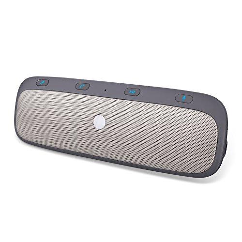 YOHOOLYO Kit Main Libre Bluetooth Fixation sur Pare-soleil Haut-Parleur Enceinte Bluetooth Voiture pour V4.0 Appairage Avec 2 Téléphones Simultanément Multifonction Pratique Sécuritaire