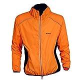 WOLFBIKE Fahrradjacke Jersey Sportswear Atmungsaktiv Lange Ärmel Winddicht Coat (Orange XXXL)