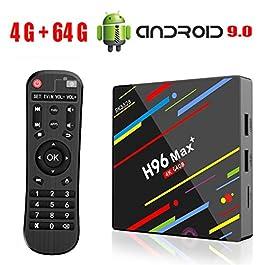 Android 9.0 TV Box H96 Max Plus 4GB 64GB RK3328 Quad Core 64 Bits Processor Smart 4K TV Box Supporto 2.4G 5G Dual Wifi/USB3.0/BT4.0/3D/H265 UHD