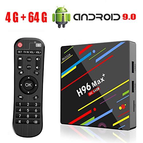 Android 9 0 TV Box H96 Max Plus 4GB 64GB RK3328 Quad Core 64 Bits Processor  Smart 4K TV Box Supporto 2 4G 5G Dual Wifi/USB3 0/BT4 0/3D/H265 UHD