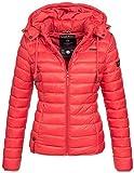 Marikoo Damen Jacke Steppjacke Übergangsjacke gesteppt Frühjahr Camouflage B619 [B619-Ein-Rot-Gr.XS]