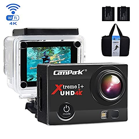 Campark ACT74 Action Camera 4K 16MP Wi-Fi Sport Cam Underwater 30M Diving Camcorder with 2.0 Inch LCD Screen 170° Wide Angle(£19 Gift Included - Portable Case + 2