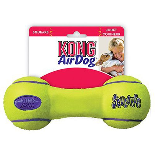 Kong Air Squeaker Manubrio, Media