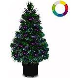 Weihnachtsbaum 65cm hoch Farbwechselspiel - 9 verschiedene Lichteffekte -Christbaum Weihnachtsdeko Tannenbaum