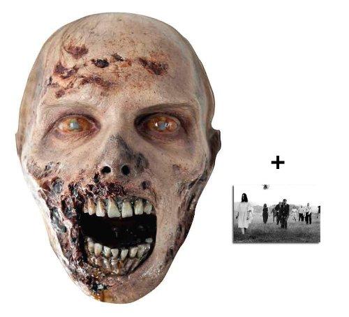 The Walking Dead Eroded Zombie Karte Partei Gesichtsmasken (Maske) - Enthält 6X4 (15X10Cm) starfoto