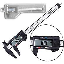 100mm 4pulgadas Calibre Vernier Digital electrónica LCD plástico calibre calibre micrómetro regla de fibra de carbono micrómetro herramienta de medición