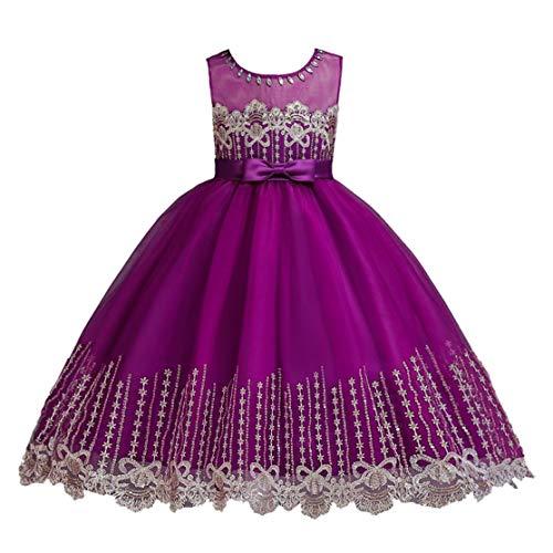 Kostüm Erdnüsse - LouiseEvel215 Kinder Mädchen Kleid Blumenmädchen Kont Bow Kleid Prinzessin Gaze Rock Kostüm Festzug Kleider Kinder Prom Ballkleid