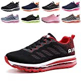 Uomo Donna Scarpe da Ginnastica Sportive Sneakers Sport Running Basse Basket Outdoor Fitness Black Red 42