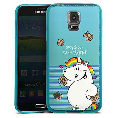 DeinDesign Slim Case kompatibel mit Samsung Galaxy S5 Silikon Hülle Ultra Dünn Schutzhülle Einhorn Pummeleinhorn Pummel und Freunde