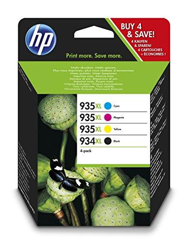 Preisvergleich Produktbild HP 934/935XL Multipack Original Druckerpatronen mit hoher Reichweite (Schwarz, Rot, Blau, Gelb) für HP OfficeJet Pro 6830, HP OfficeJet Pro 6230