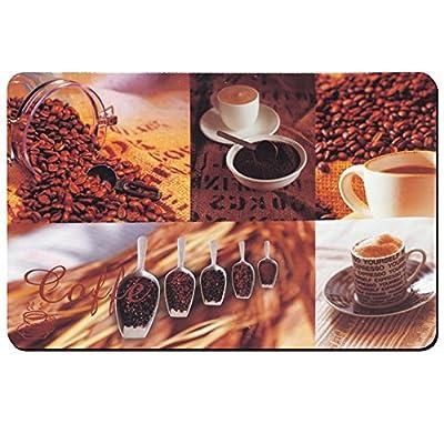 "Kela ""Coffee"" Placemats, Plastic, Brown/White, 43 x 28.5 cm - low-cost UK light shop."