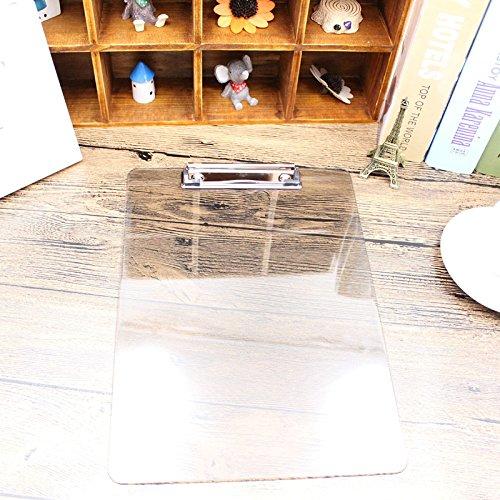 EQLEF® A5 standard trasparente Appunti PVC (nero piatto della clip)