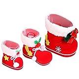 FENICAL 3pcs Xmas Candy Boot Geschenke Strümpfe Snacks Containerpaket Taschen Weihnachtsschmuck / Ornamente für Weihnachtsbaum oder Heimtextilien
