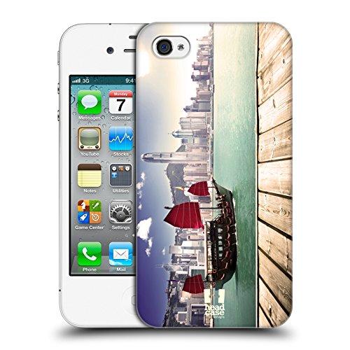 Head Case Designs Brooklyn Bridge New York Il Meglio Di Ogni Posto Cover Retro Rigida per Apple iPhone 7 / 8 Harbour City Hong Kong