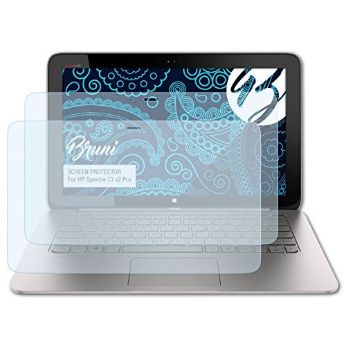 Bruni Schutzfolie kompatibel mit HP Spectre 13 x2 Pro Folie, glasklare Bildschirmschutzfolie (2X)